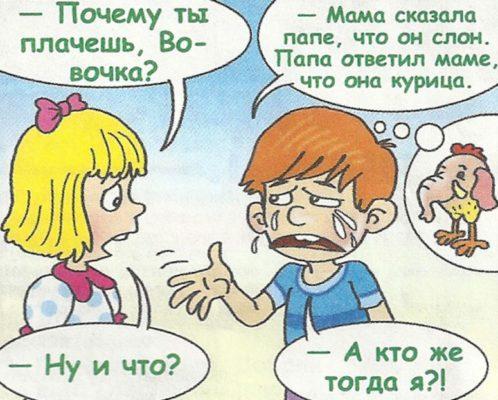 анекдот про вовочку и учительницу русского языка