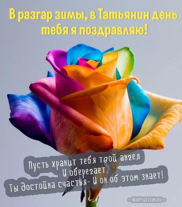Короткие поздравления с Татьяниным днем КОМ