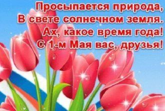 поздравления с 1 мая в стихах бком