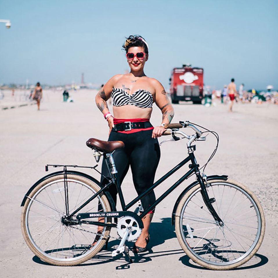 Жители Нью Йорка на велосипедах